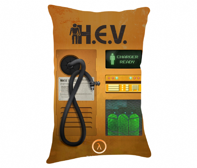 H.E.V. Suit Charger Lumbar Cushion Inspired by Half Life 2
